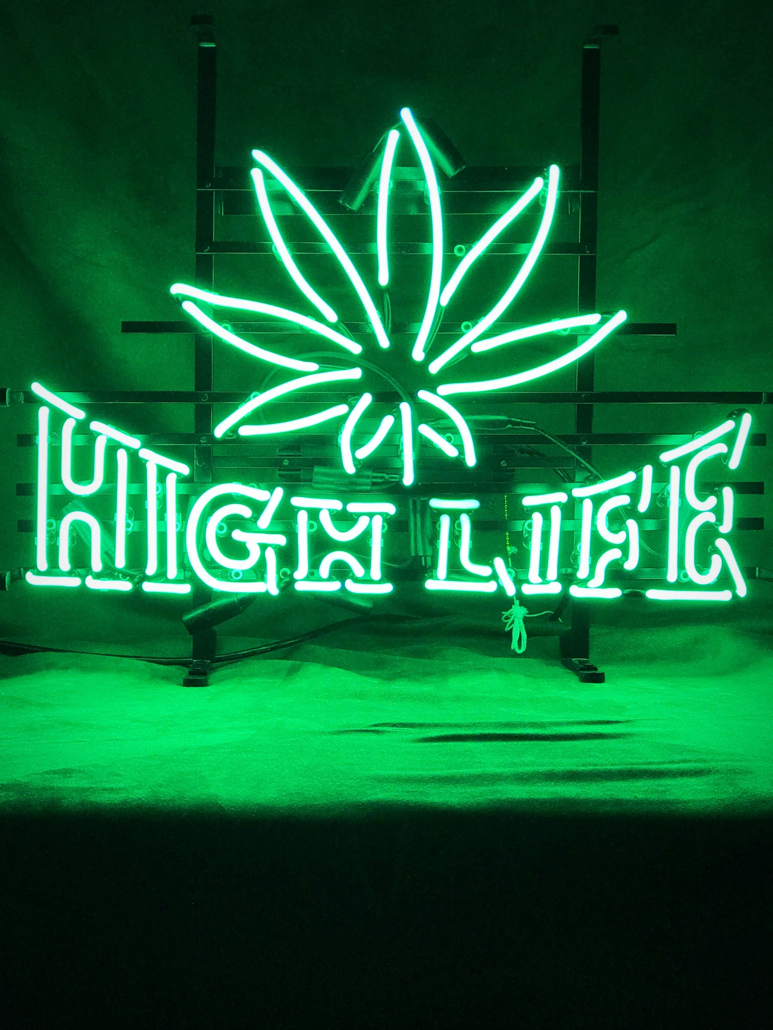 High Life Neon Sign Neon Signs Dark Green Aesthetic Green Aesthetic