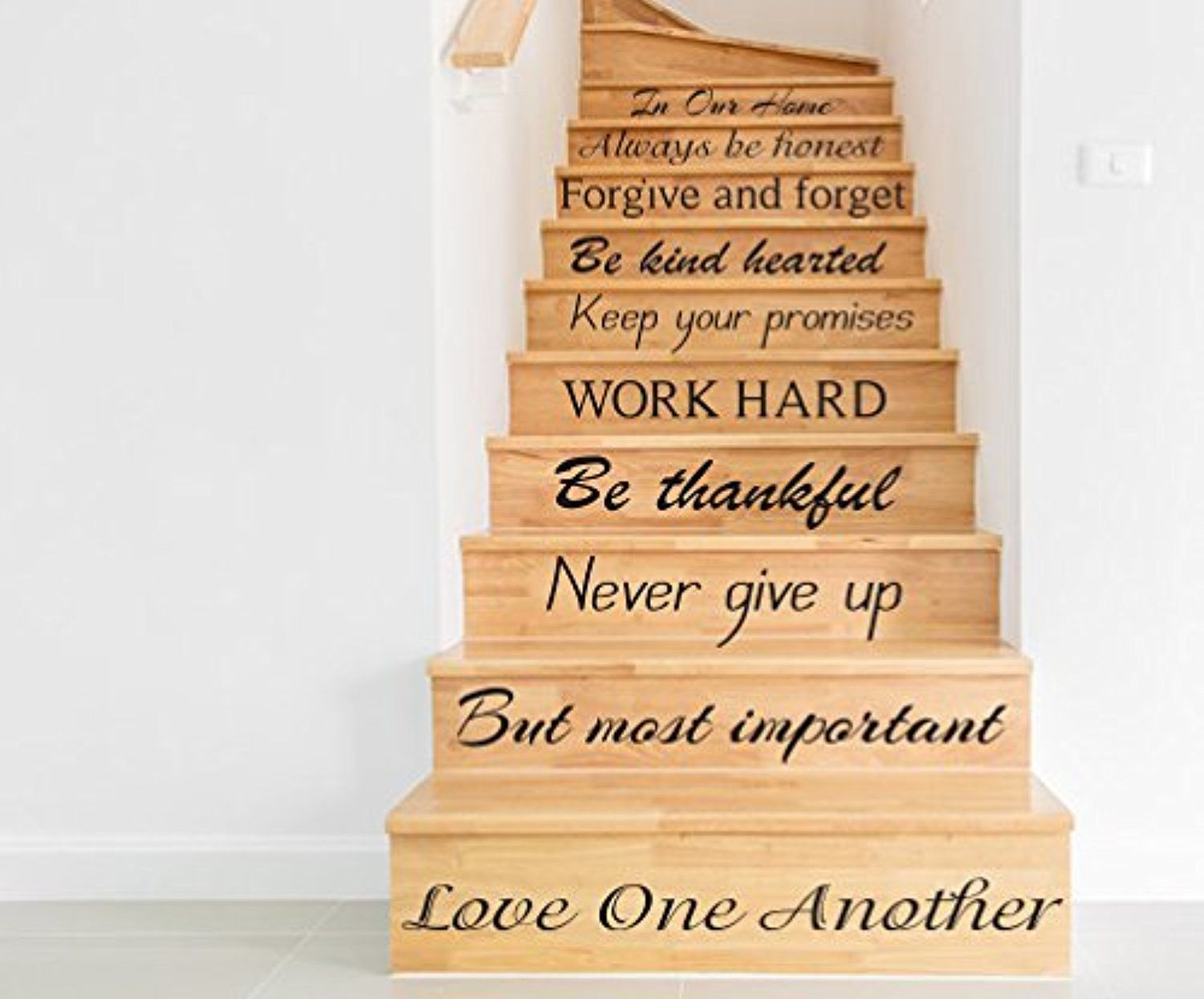 Stair Vinyl Decals Quotes Stairway Decal In Our Home Quote Vinyl Stickers  Family Lettering Decor For