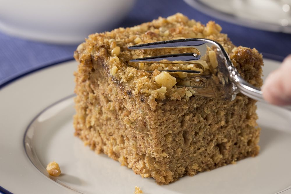 There are few things that go better with coffee cake than a mug full of your favorite hot beverage. Enjoy a slice of Oatmeal Coffee Cake for breakfast or as a midday snack; it's got a great spice cake flavor with a little crunch!