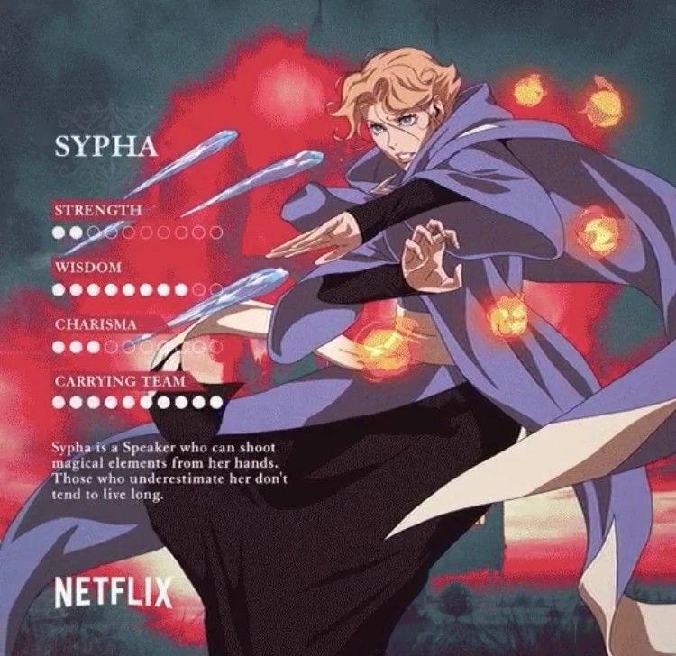 Castlevania Season 2 Sypha's stats | Castlevania in 2019