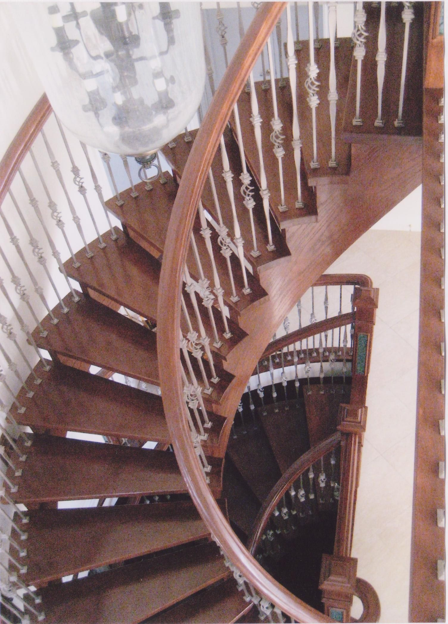 Best Oak Circular Staircase With Open Risers With Oak Handrail 400 x 300