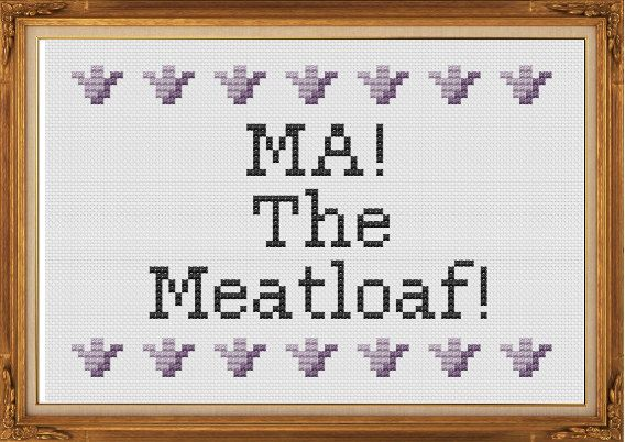 MA! The Meatloaf! - Wedding Crashers - PDF Cross Stitch Pattern