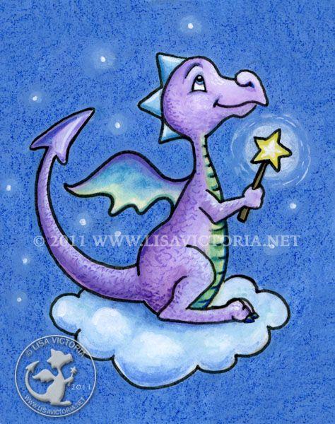 Dragon Art, Art Print, Nursery Art, Nursery Artwork, Cute Dragon, Fine