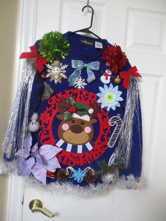 UGLY Christmas Sweater Ugly Tacky Xmas sweater size Medium Petite