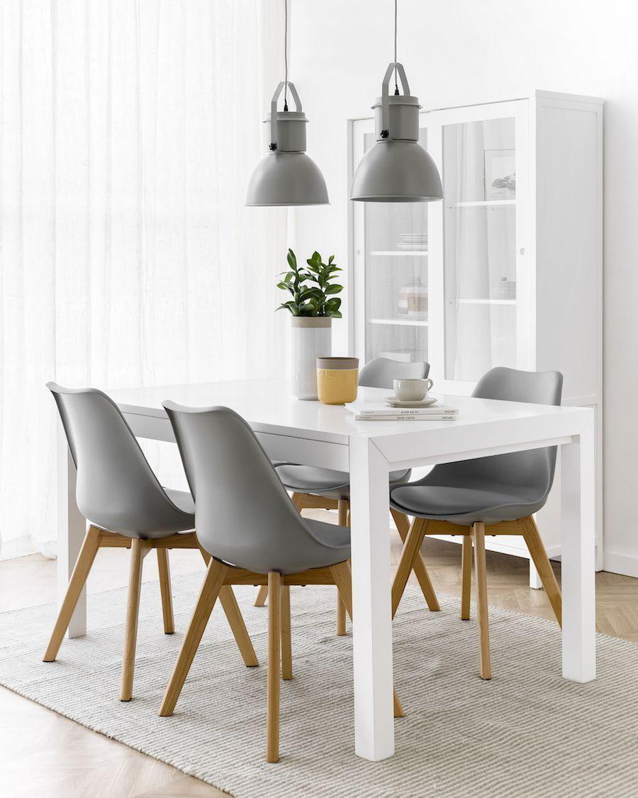 Lane mesa extensible blanca 140 | Mesa y sillas cocina, Mesa ...