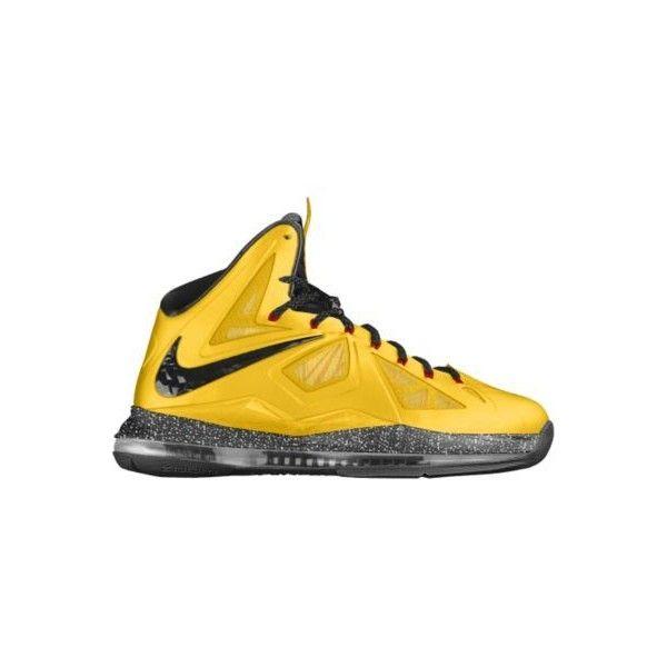 Nike LeBron X+ iD Custom Women's Basketball Shoes - Yellow ...