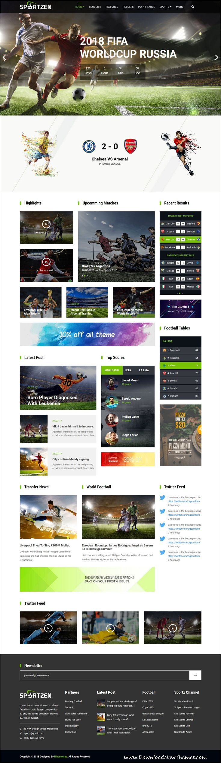 Sportzen   Sports Club U0026 Magazine HTML Template | Web Design Ideas |  Pinterest | Magazine Website, Sports Clubs And Template