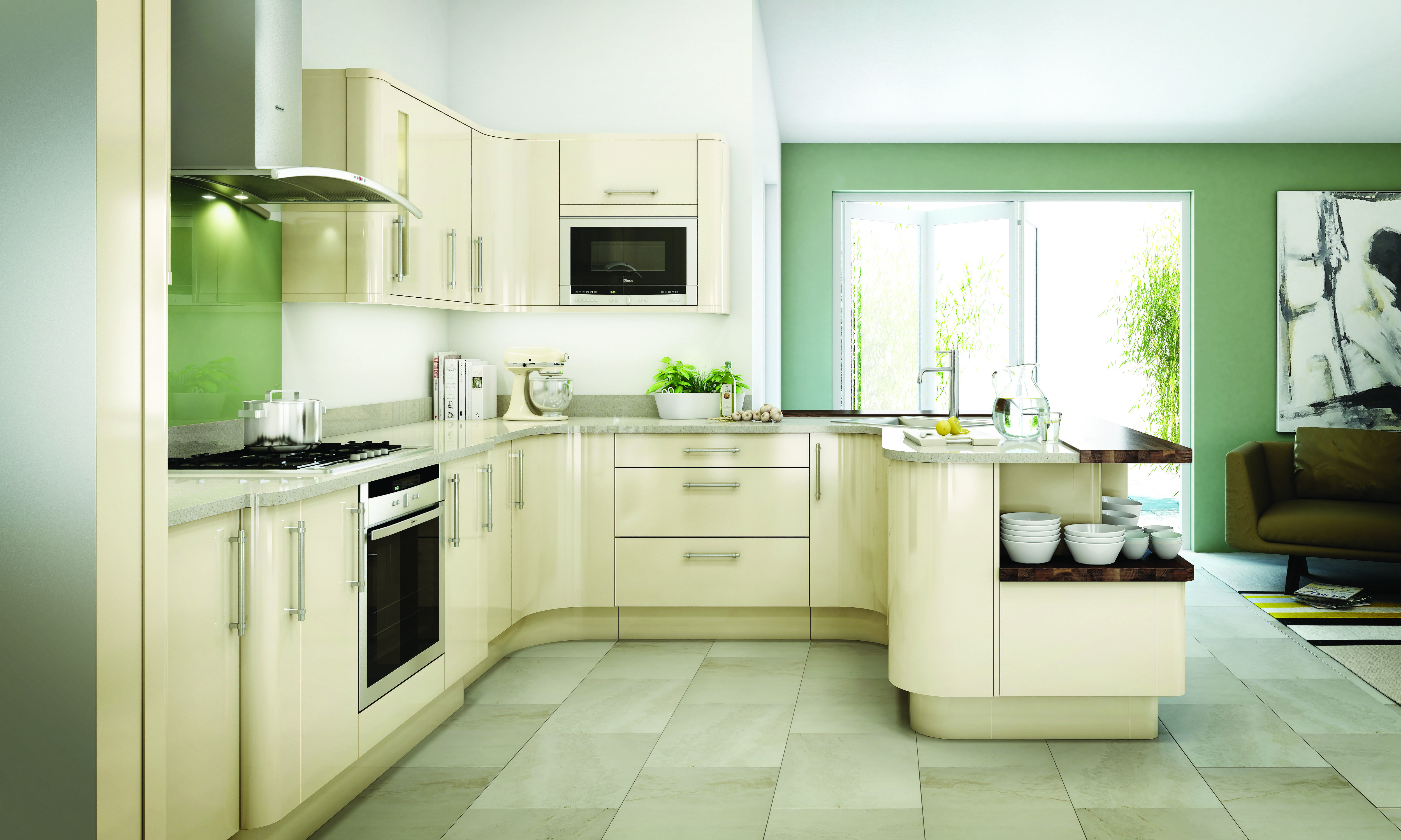 Modernise your kitchen with elegant vinyl and foil wrapped