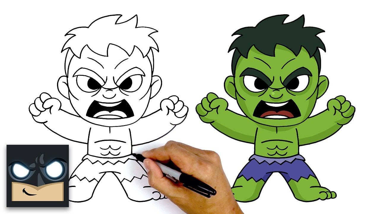 How to draw the hulk the avengers youtube in 2020