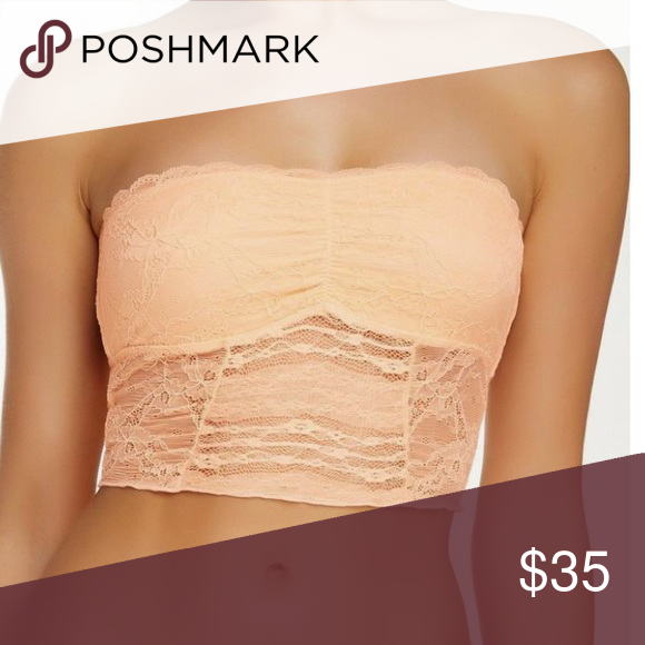 3928fcfa5b Free People Peach Nectar Galloon Lace Bandeau Intimately Free People new  with tags . Size small and X-Small available Free People Intimates    Sleepwear Bras