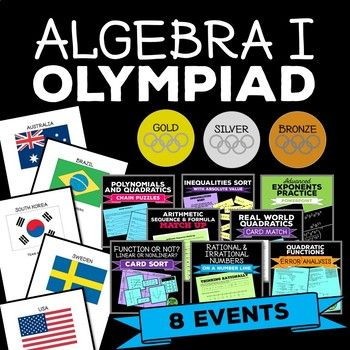 Algebra I Winter Games Olympiad Pack by Rise over Run   TpT perfect