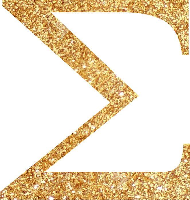 Gold Sigma Sticker By Lolo Dottie Gold Unique Designs Transparent Stickers