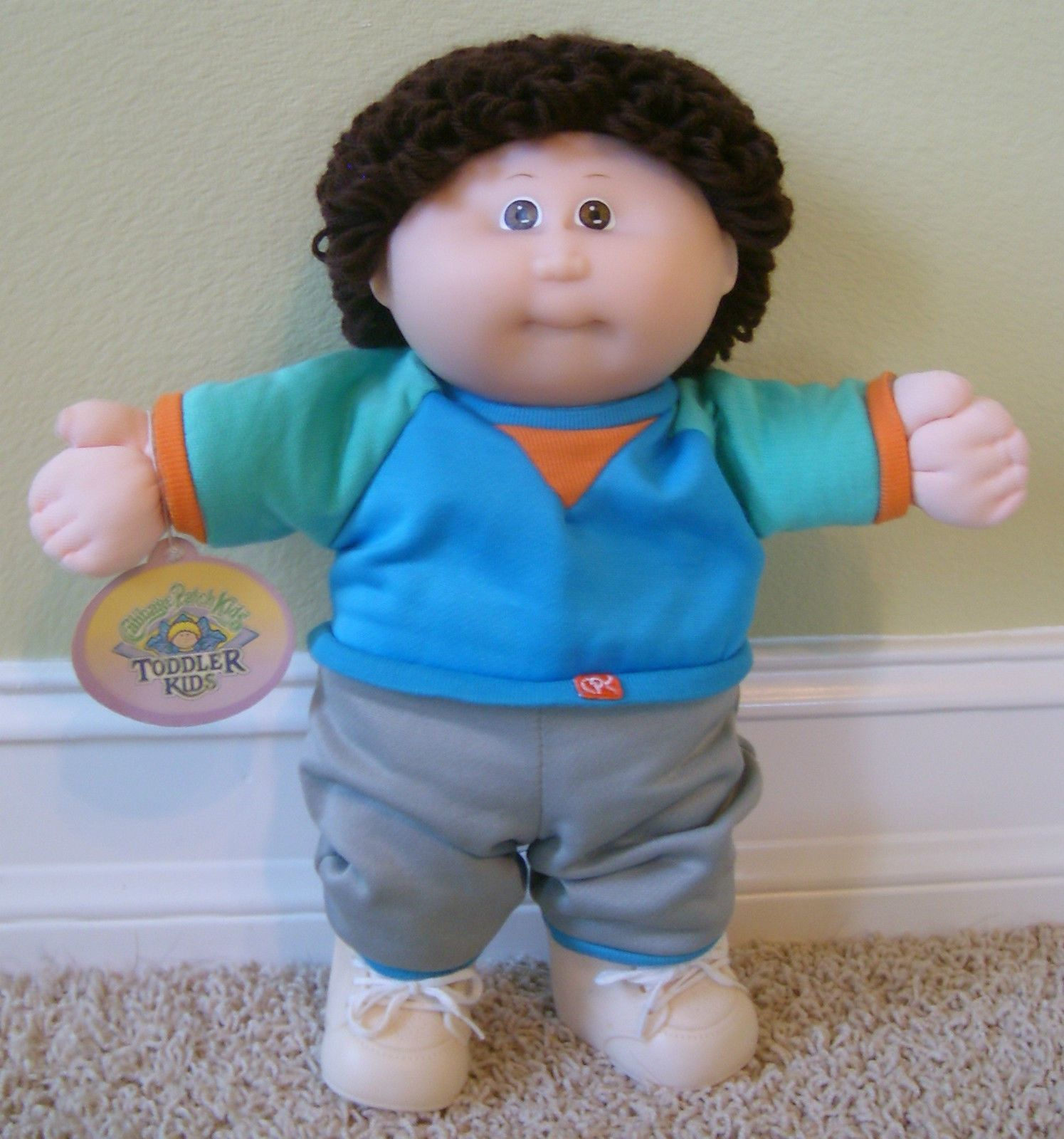 Mib 1988 Cabbage Patch Toddler Kids Boy Brown Eyes Loops W Box Tag Papers Hm1 Cabbage Patch Kids Cabbage Patch Dolls