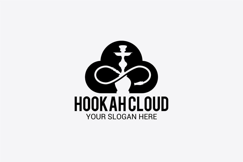Hookah Cloud Kalyany Logotip Raboty
