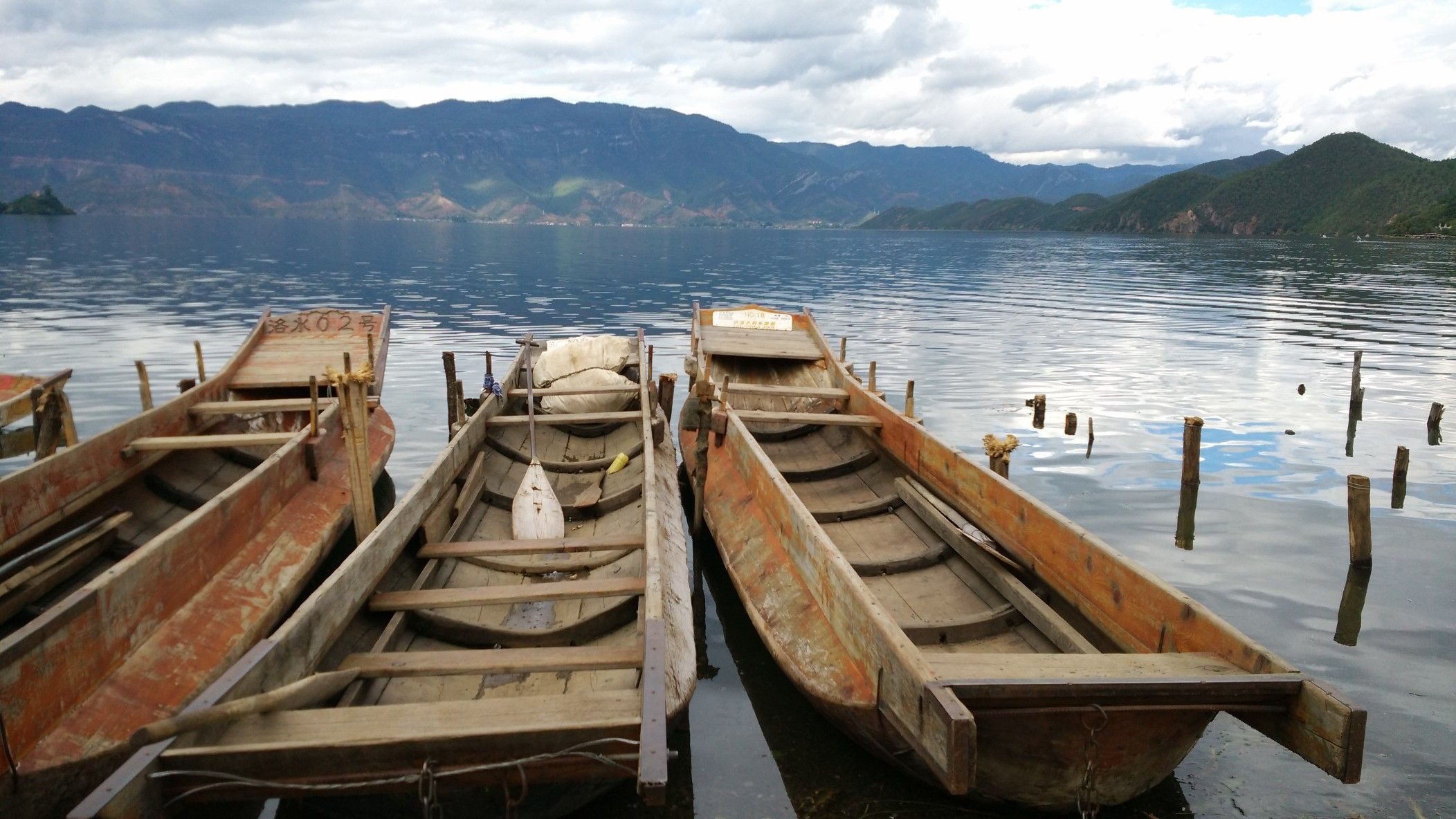 The Pig Trough Boat From Mosuo Nationality At Lugu Lake