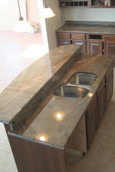 Nepson Gold Island With Raised Bar Top