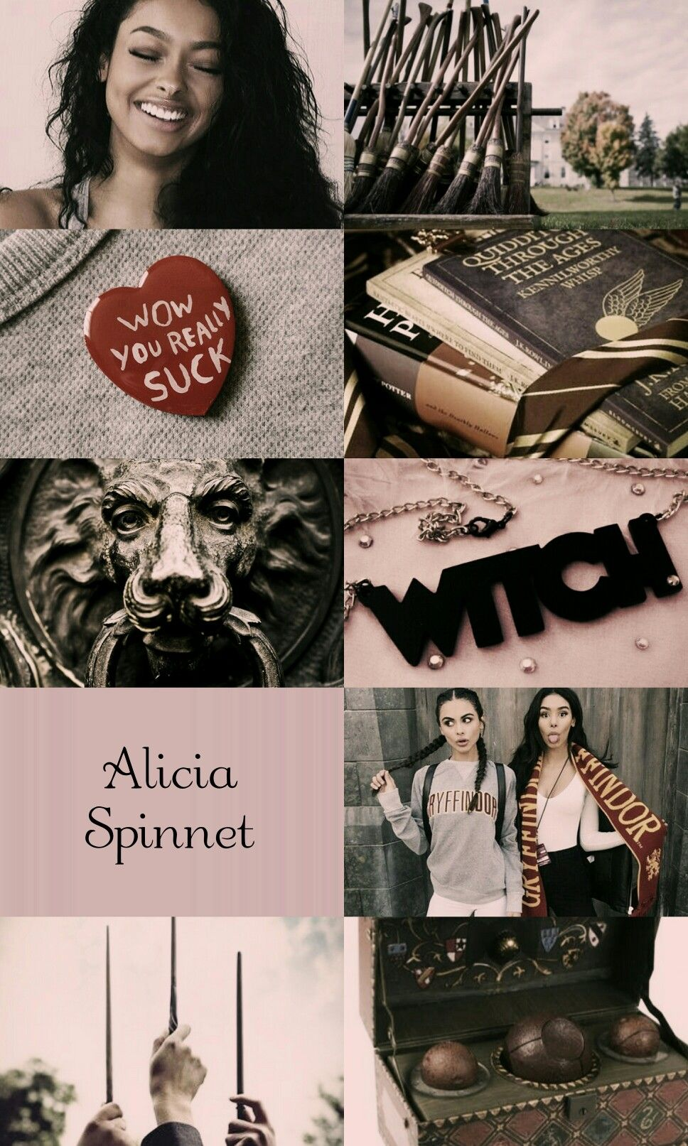 Alicia Spinnet Aesthetic Harry Potter Scarf Harry Potter Characters Harry Potter Wizard