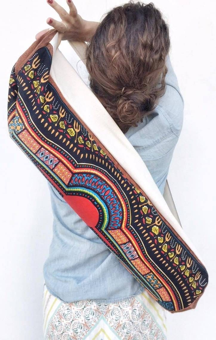 Beautiful African Handmade Yoga Bag Made With A Traditional Dashiki Fabric Check It Out On Etsy Now