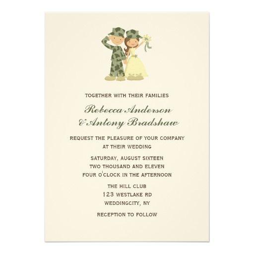 Solr And Bride Wedding Invitations Armywedding Militarywedding Military Army