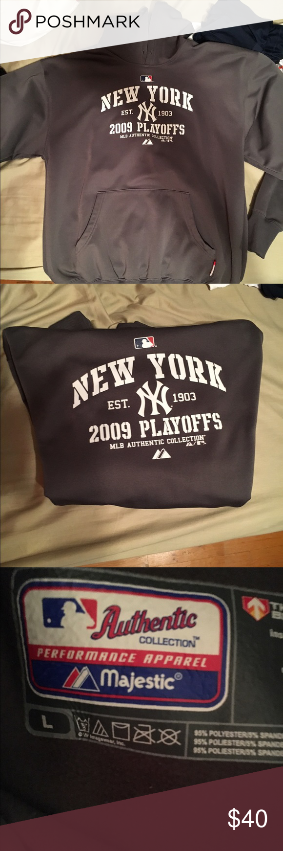 2009 Yankees World Series Hoodie Brand new size large Majestic Shirts Sweatshirts & Hoodies