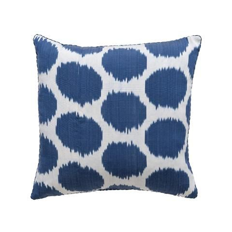 Blue Mu Ikat Pillow Madeline Weinrib Ikat Pillows Pillows