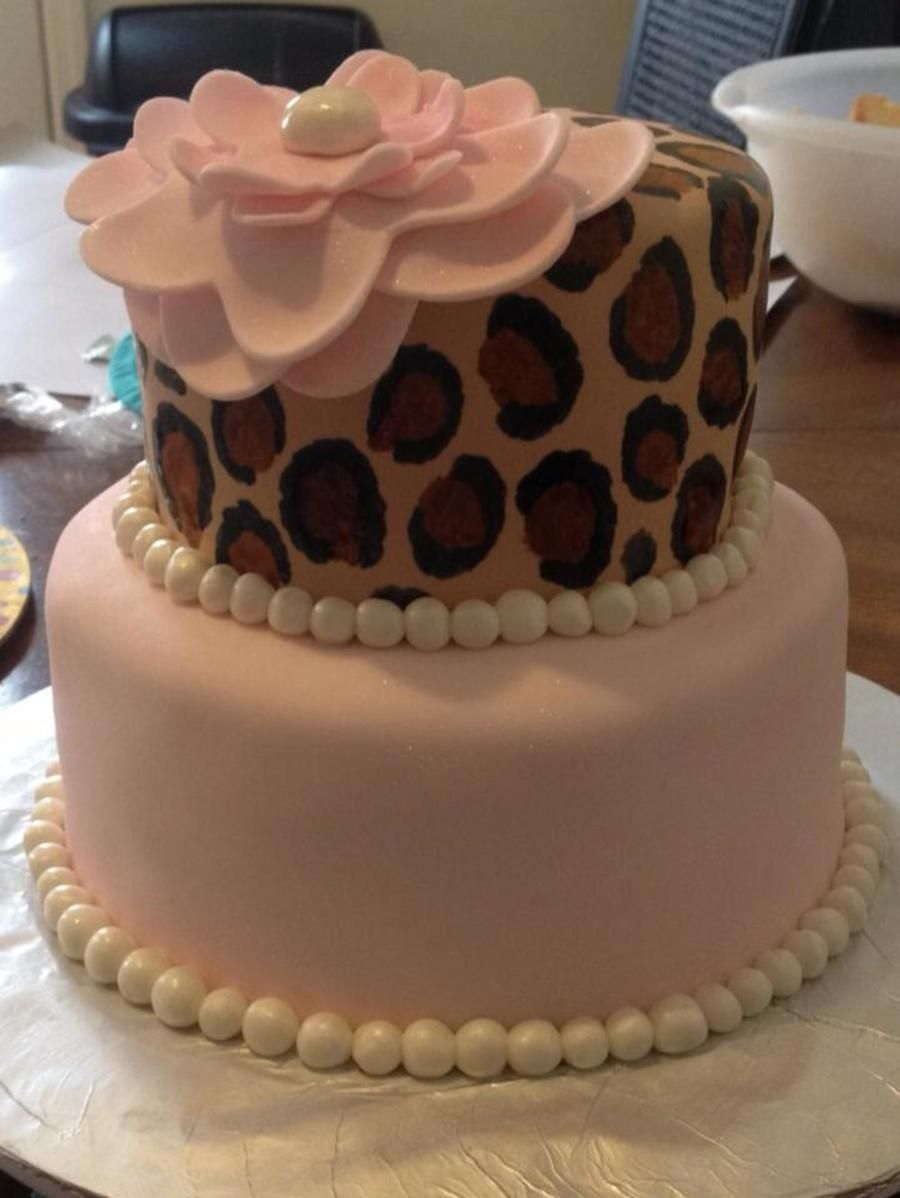 Pink Leopard Birthday Cake  on Cake Central