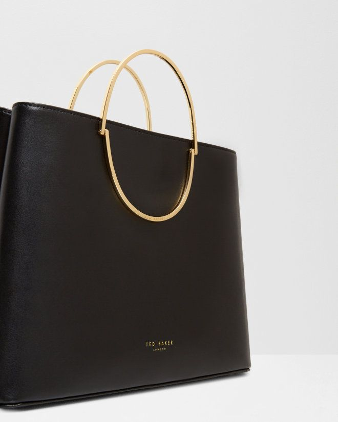 Small Leather Tote Bag Black Bags Ted Baker Uk