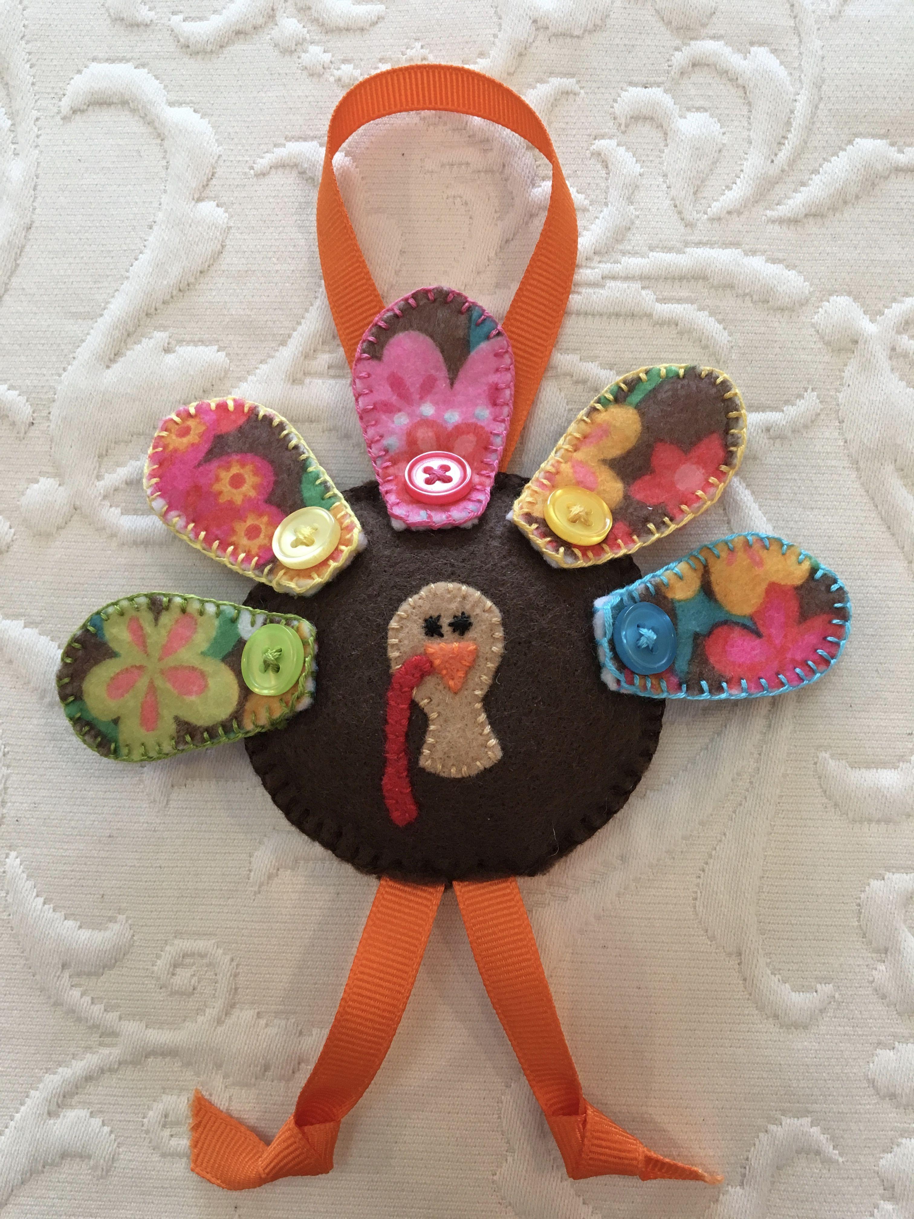 Felt Crafts Felt Ornament Thanksgiving Turkey Made By Janis Felt Ornaments Felt Crafts Wool Felt Projects