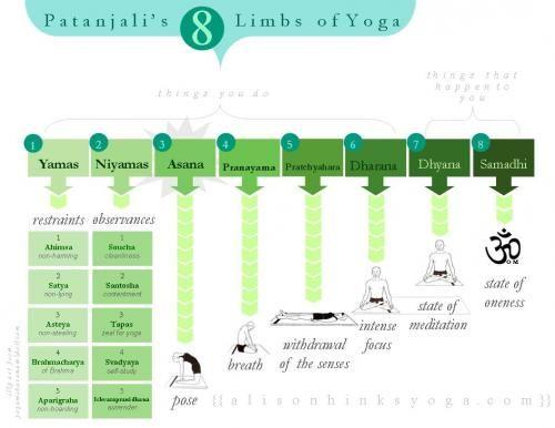 Infographics Yoga Chart Yoga History Yoga Sutras