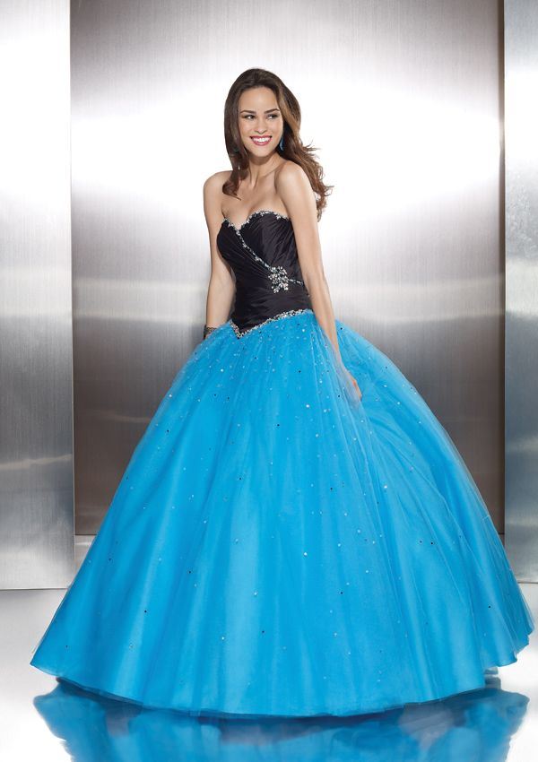 This unique dress is by Mori Lee and can be found at Catnip Boutique in New York!