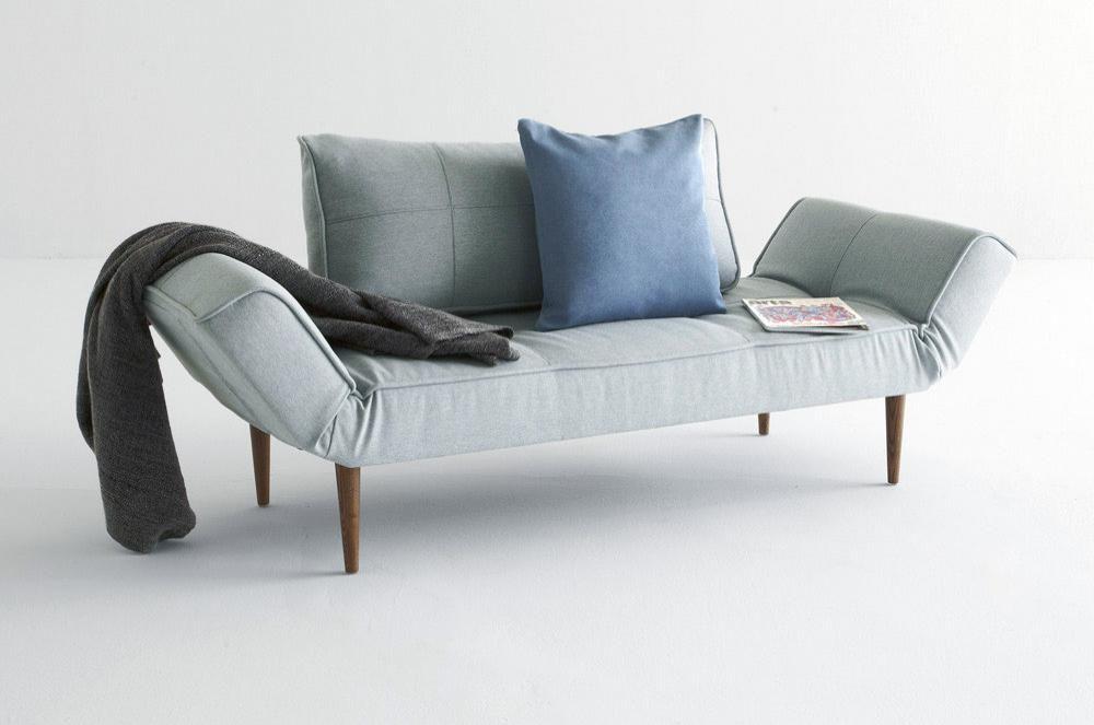 Zeal Schlafsofa Daybed Mit Klappbaren Seitenlehnen Von Innovation Schlafsofa Mobel Sofa Dunkles Sofa