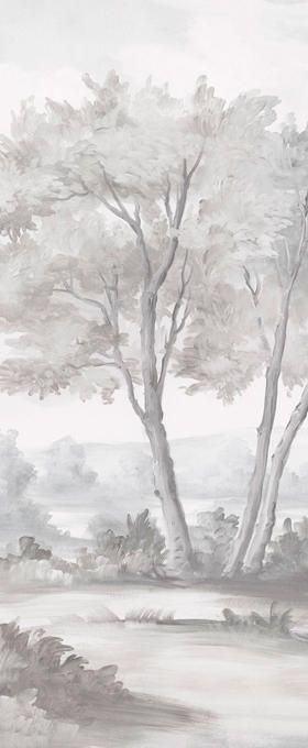 How it works wall colors grisaille scenic wallpaper - Grisaille wallpaper ...