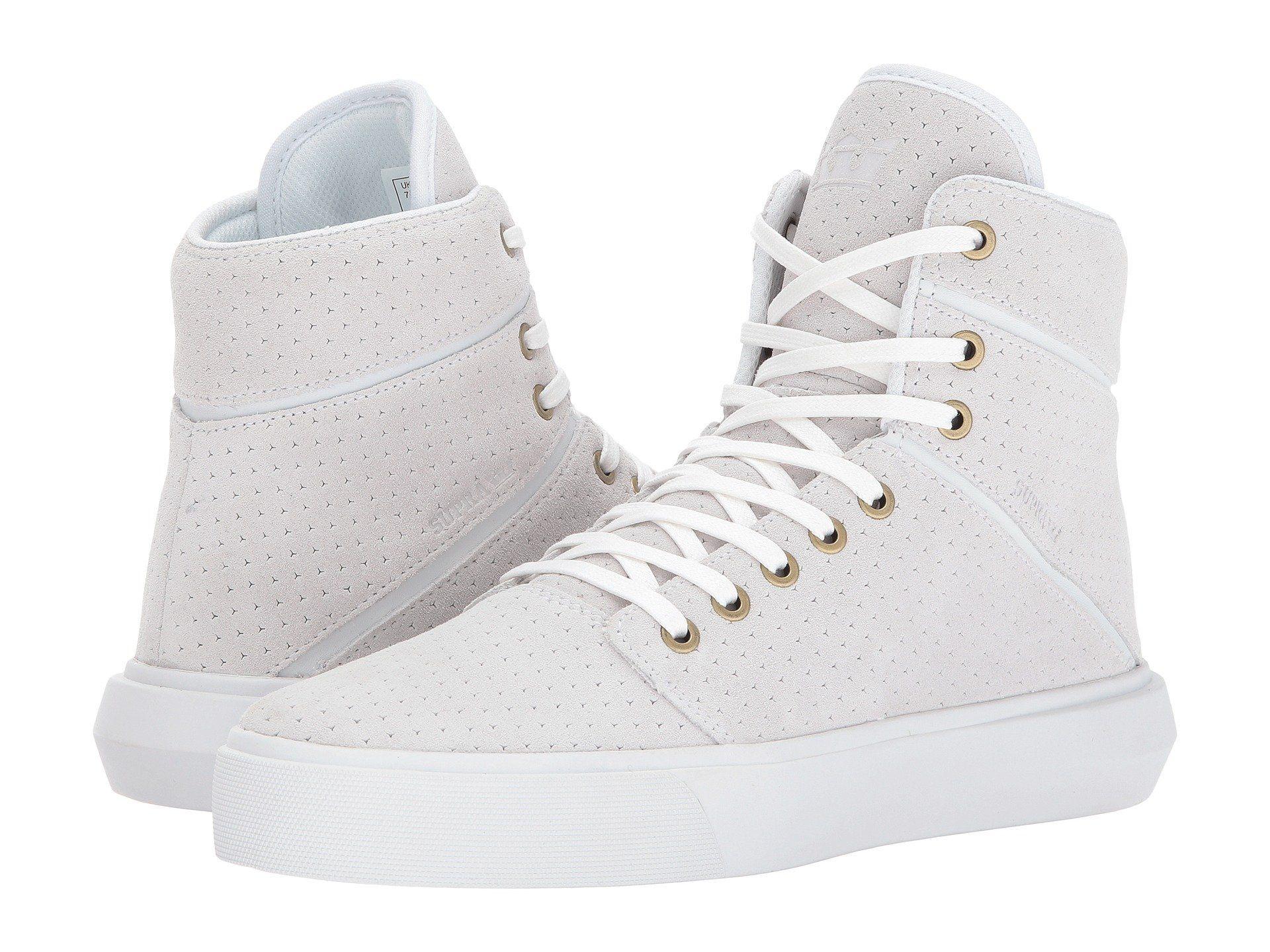 Supra Mens Camino White White Skate Shoes IRwpdNR6pq