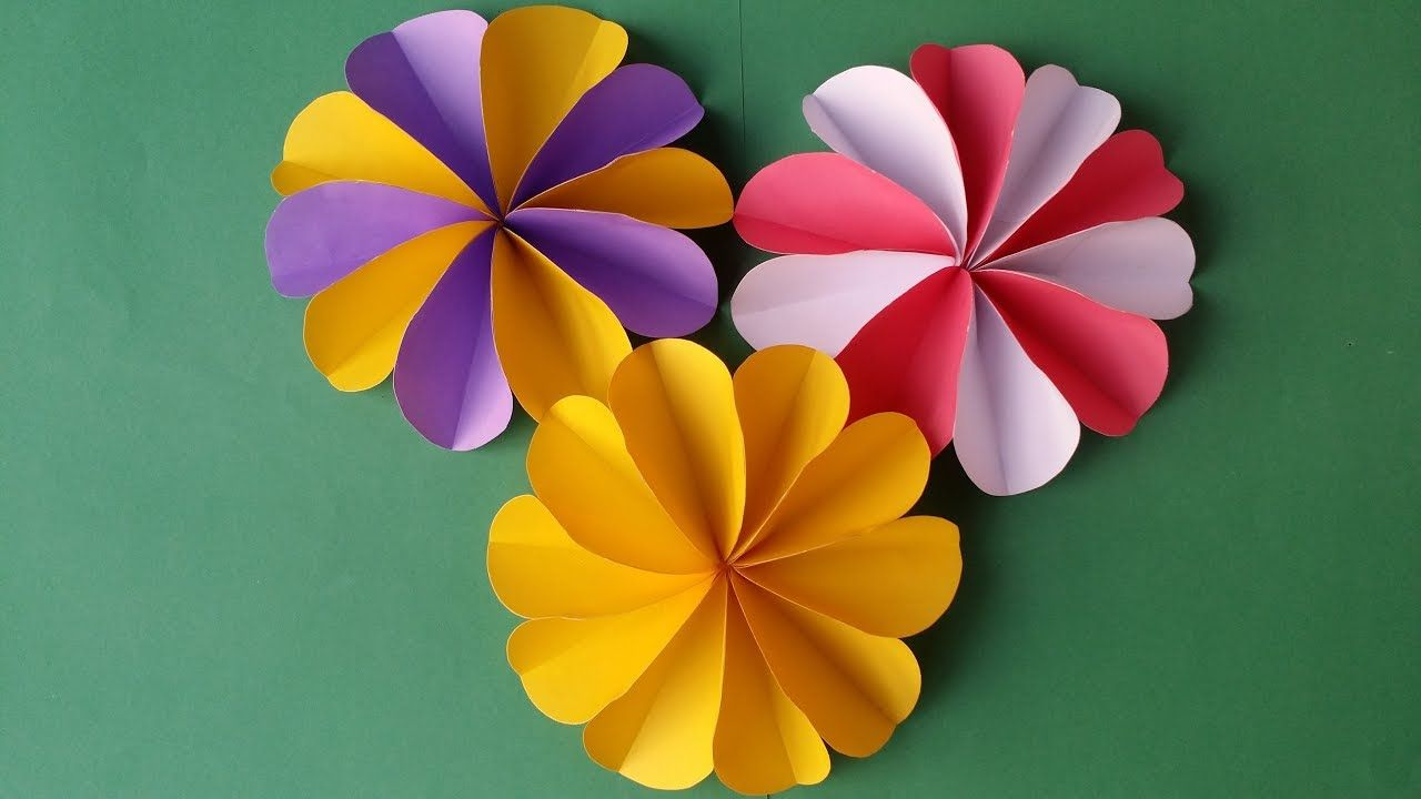 Diy How To Make Easy Beautiful Paper Flower Christmas