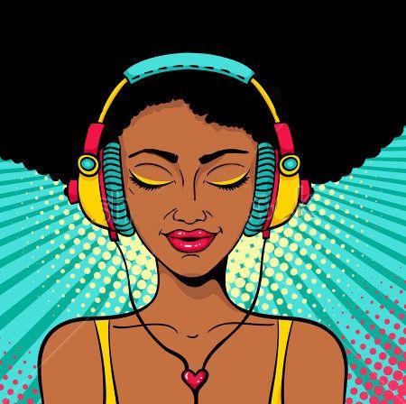 Pin by Nessan on G | Headphones art, Pop art girl, Pop art ...