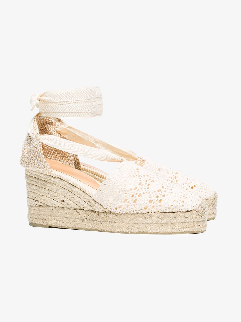 Castañer White Campesina 60 Crochet Wedge espadrilles buy cheap largest supplier cheap sale with credit card fake online buy cheap footlocker pictures collections online QqPp7l