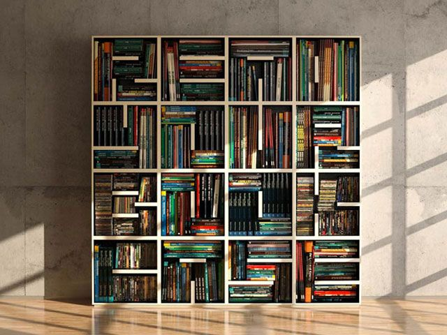 Modular Typographical Bookcase I Love This It Can Hold