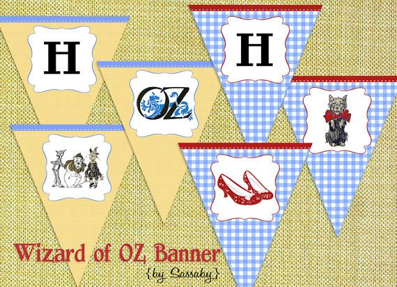Party Banner Wizard of Oz Kids Birthday Party DIY PRINTABLE