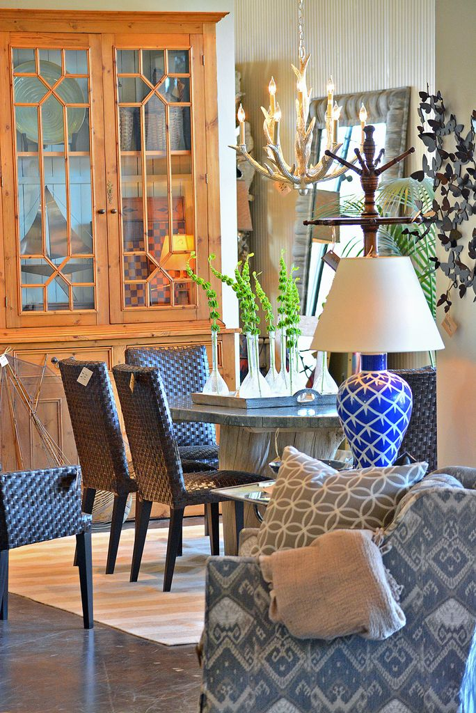 Dining Room Furniture Dallas Fascinating Geometric #blue #arm #chair And #dining Room Vignette At #dallas Review