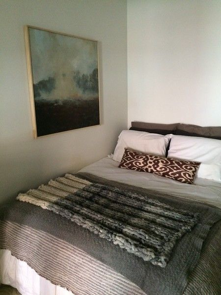 Before Tight Squeeze Bed Against Wall Tiny Bedroom Design Above Bed Decor