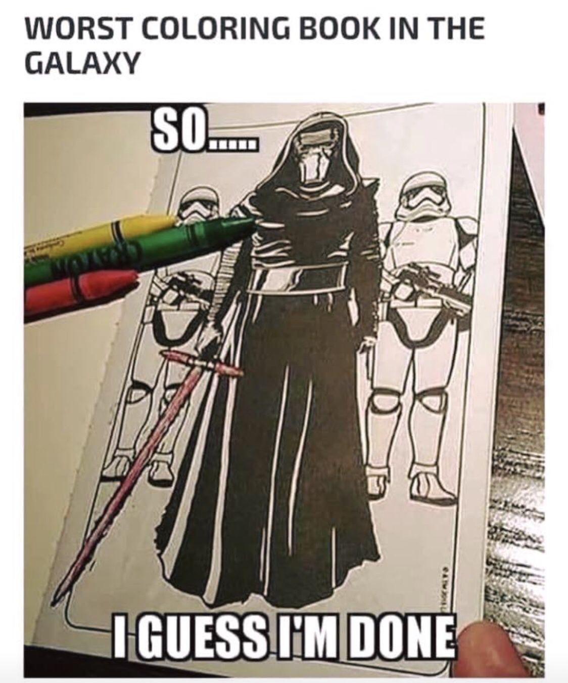 Darth Vader and StormTroopers would make the worst