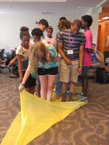 Team Building Activity: Beach Towel Flip – Keeping Connected