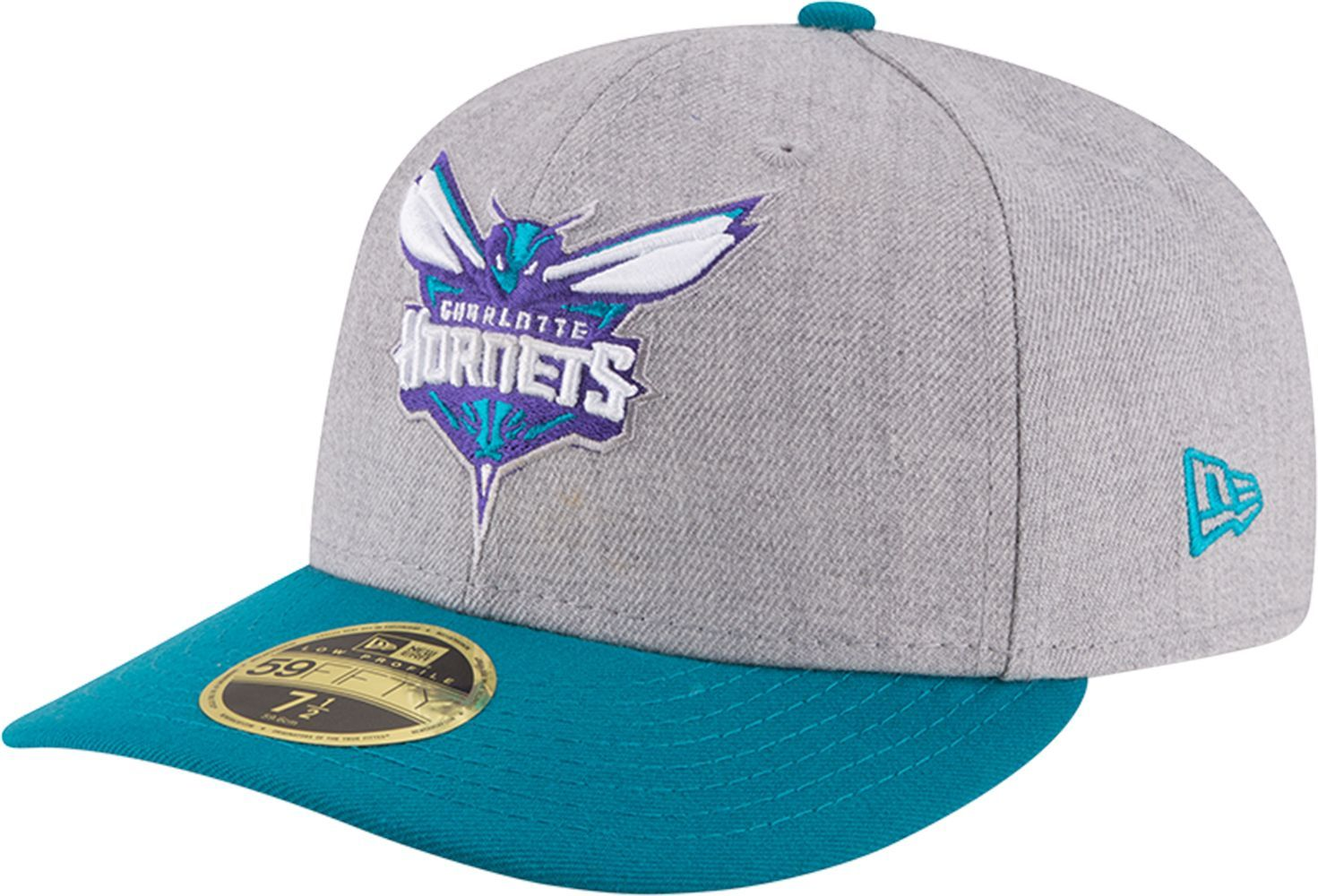super popular 337c3 ef68a ... new zealand new era mens charlotte hornets 59fifty low crown grey  fitted hat size 7 3
