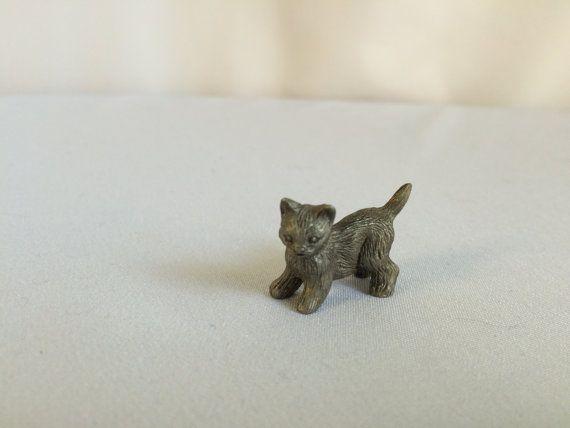 Pewter  Cat Figurine