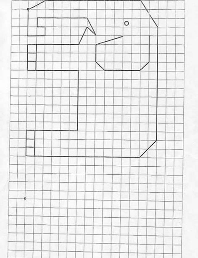 Juegos De Geometria Juego De Geometria Elefante Dibujos En Cuadricula Ejercicios De Comprension Juegos Geometria