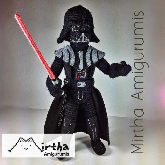 Mirtha Amigurumis: Darth Vader Amigurumi star wars (NOT Pattern ...