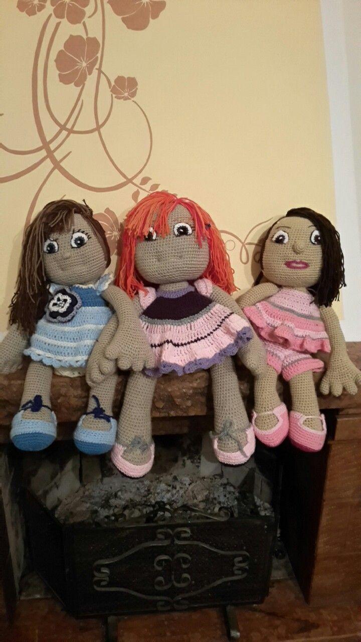 Bambole amigurumi fatte da me
