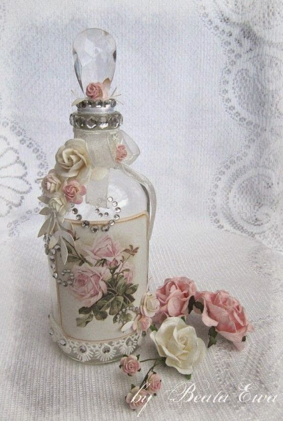 Decorative bottles keep calm and diy 75 of the best - Manualidades shabby chic ...
