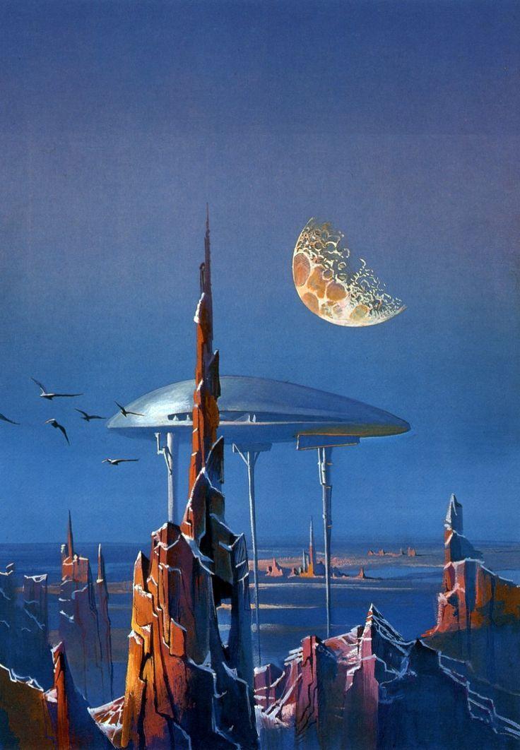 Sci-Fi Spacecraft Art | Space Future, Sci-Fi, Retro-Futuristic, by Bruce Pennington