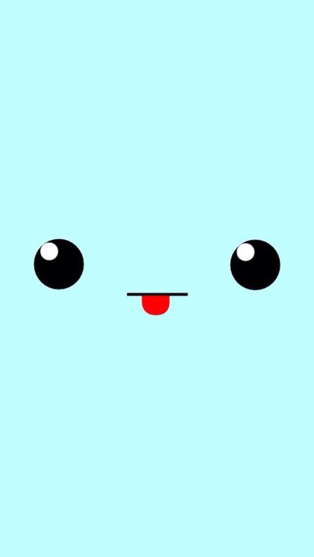 Blue funny face background Fondo de pantalla de dibujos
